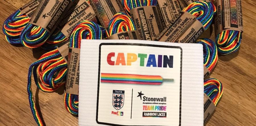 Chelmer Wanderers support Stonewall's 'Rainbow Laces 2019' initiative